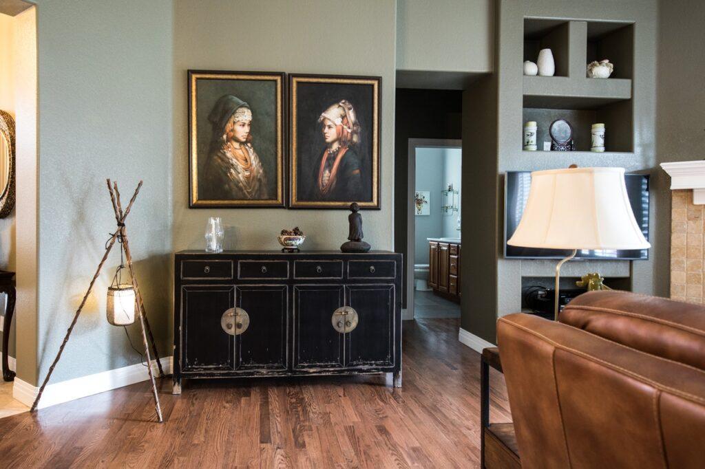 Wohnzimmer mit Sideboard